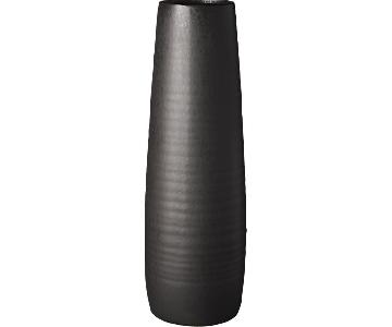 CB2 Spin Floor Vase in Matte Black
