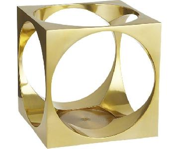 CB2 Hole in the Wall Brass Candle Holders