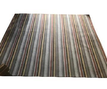 Room & Board Striped Wool Area Rug