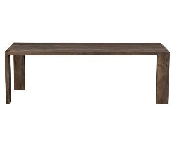 CB2 Blox Dining Table w/ Bench .