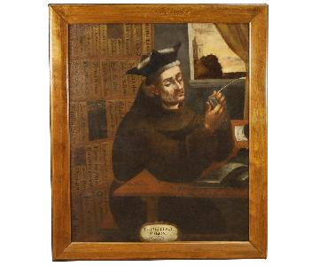 17th Century Oil on Canvas Spanish Religious Painting