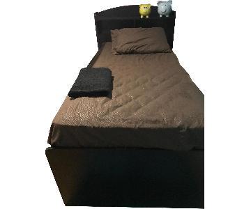 Ashley Twin Size Wood Bed w/ Storage