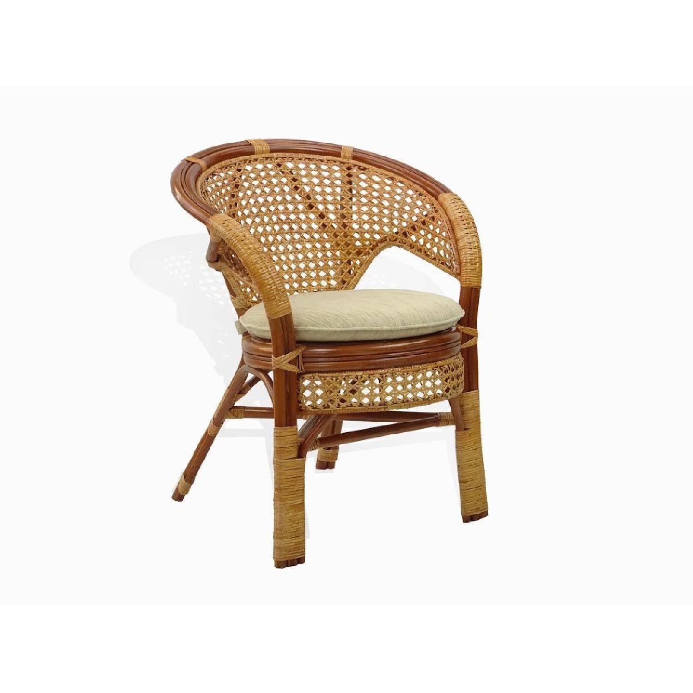 Pelangi Rattan Wicker Colonail Lounge Chair