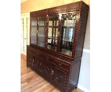 Vintage Chinese Breakfront/China Cabinet