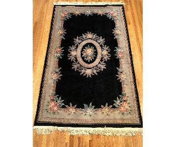 Black Chinese Area Rug