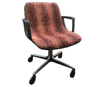 Vintage Knoll-Style Desk Chair w/ Custom Upholstery