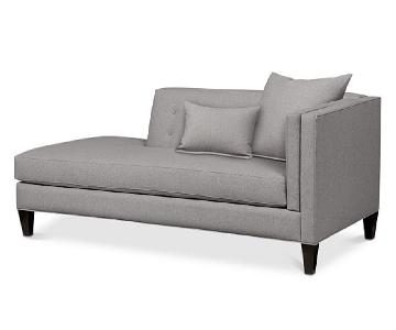 Macy's Braylei Tufted Chaise Lounge in Grey Fabric