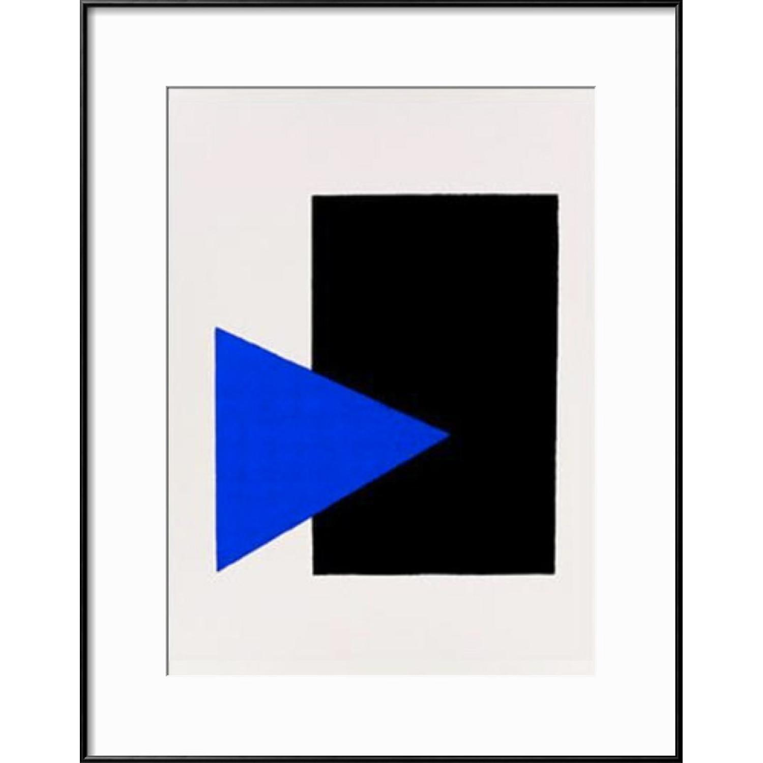 Kasimir Malevich Black Rectangle Blue Triangle Framed