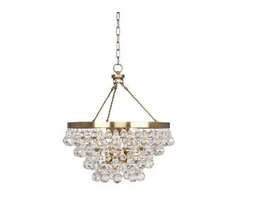 Robert Abbey Bling Chandelier in Antique Gold