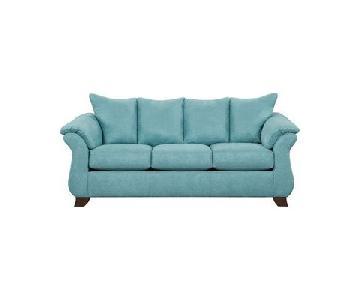Charlton Home Homerville Sleeper Sofa in Capri Blue