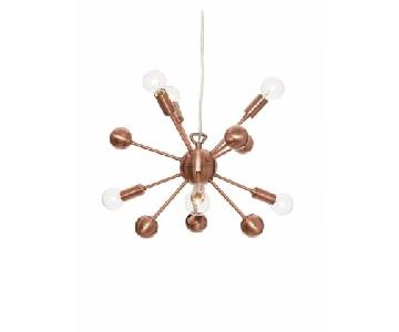 Copper 6-Light Pendant Sputnik Style Chandelier