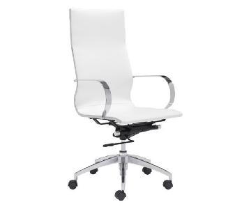 Manhattan Home Design White Hi Back Office Chair