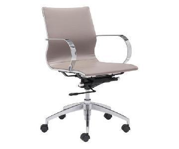 Manhattan Home Design Taupe Low Back Office Chair