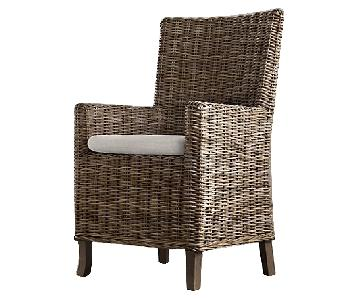 Restoration Hardware Handwoven Rattan Dining Chairs