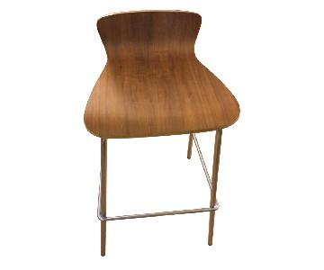 Metal Stool w/ Wood Seat