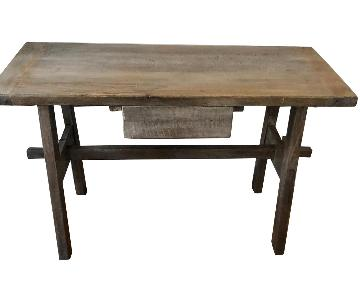 Modern Grey Farmhouse Desk