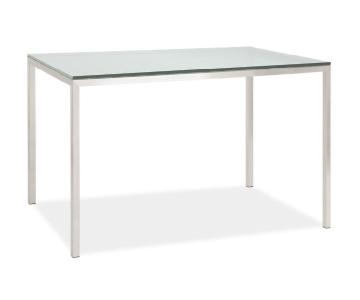 Room & Board Modern Metal Desk w/ Glass Top
