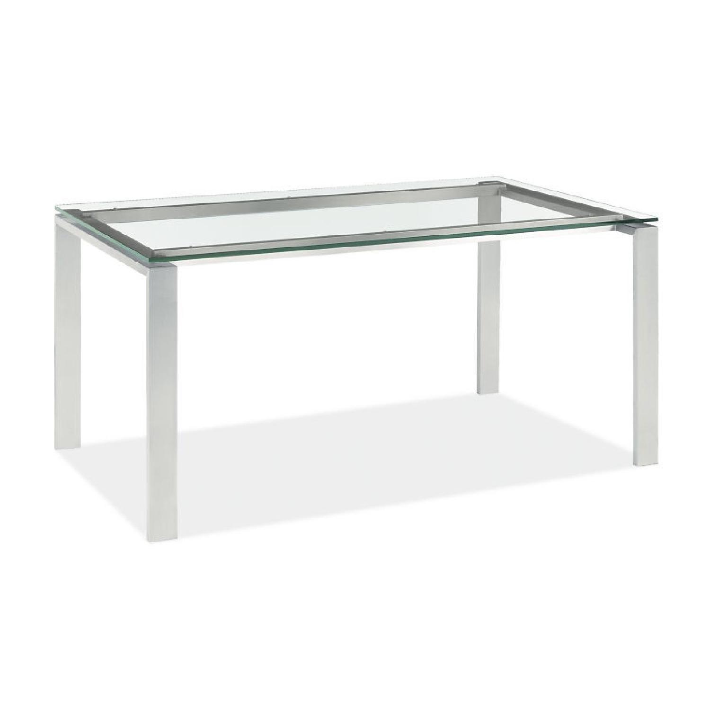 Room & Board Modern Metal Desk w/ Glass Top