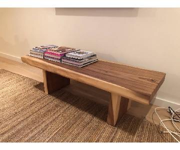 Wisteria Solid Wood Organic Modern Coffee Table