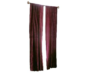 Urban Outfitters Deep Purple Velvet Curtains