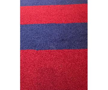 Pottery Barn Kids Rugby Red & Blue Wool Area Rug