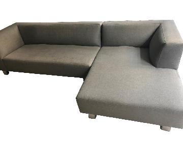 Room & Board Grey Sectional Sofa