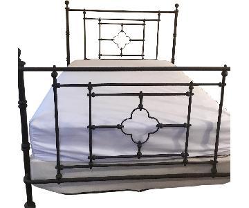 Restoration Hardware 19th C. Quatrefoil Iron Queen Bed