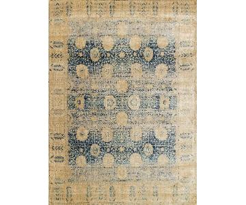 Loloi Anastasia Area Rug in Light Gold & Blue