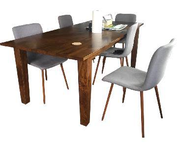 CB2 Dining Table w/ 8 Chairs