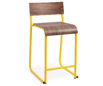 Gus Modern Church Stools in Canary Yellow