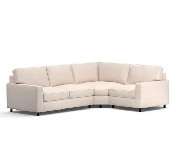 Pottery Barn PB Comfort 3 Piece Sectional Sofa