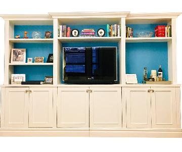 Custom Made White Entertainment/Storage Wall Unit