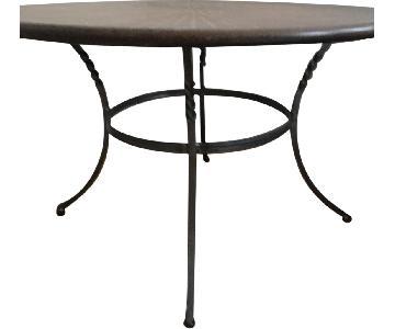Pier 1 Starburst Wood Inlay Coffee Table