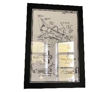 Framed Aeroplane Sketch