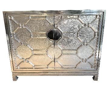 Hand-Hammered German Silver Storage Cabinet/Credenza