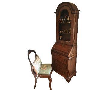 Antique 2 Section Secretary Desk