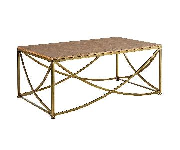 Pier 1 Solid Wood Coffee Table