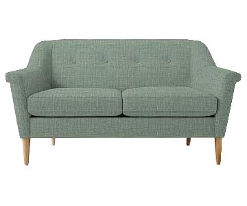 West Elm Finn Sofa in Heathered Weave Eucalyptus