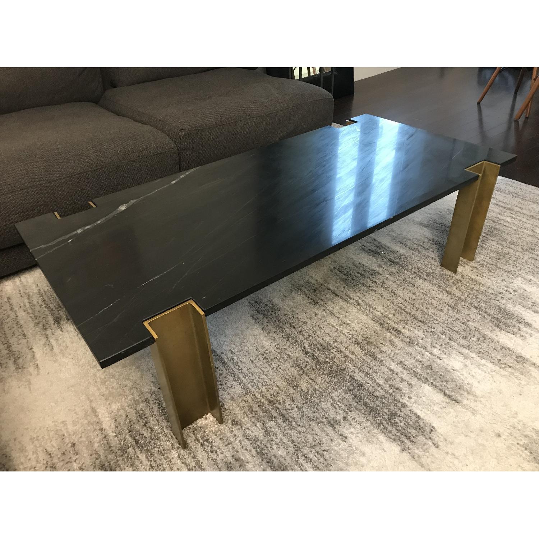 Cb2 Alcide Rectangular Marble Coffee Table Aptdeco