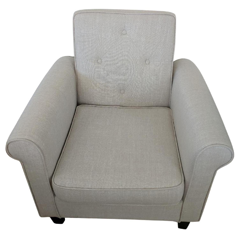 Pier 1 Liam Ivory Tufted Club Chair ...