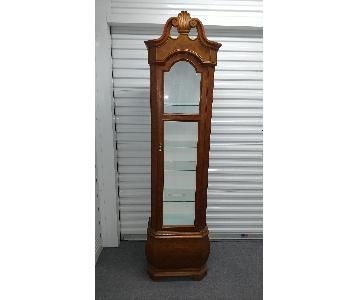 Father Clock Display Cabinet