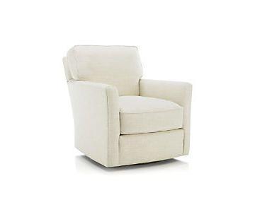 Crate & Barrel Talia Swivel Chair