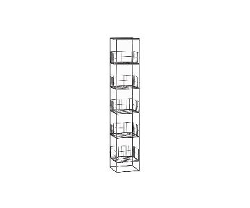 CB2 Modern Industrial Grid Shelving Tower