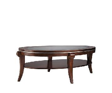 Raymour & Flanigan Oval Coffee Table
