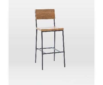 West Elm Solid Wood Rustic Barstools