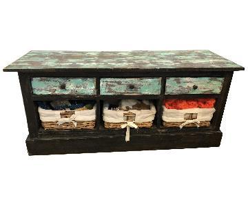 UMA Enterprise Inc. Rustic Bench w/ Drawers