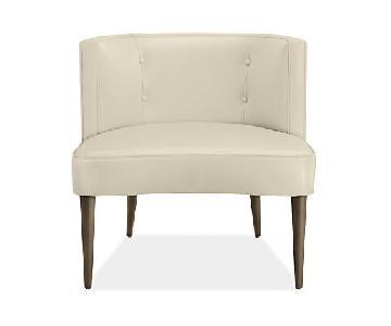 Room & Board Chloe Custom White Leather Chair