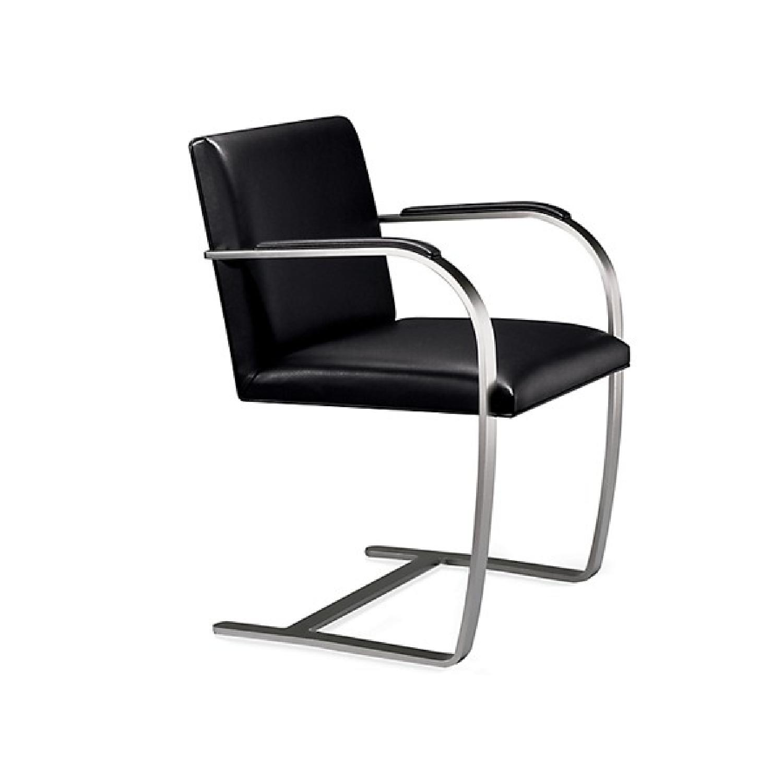 Knoll Mies Van Der Rohe Leather Flat Bar Brno Chair Aptdeco