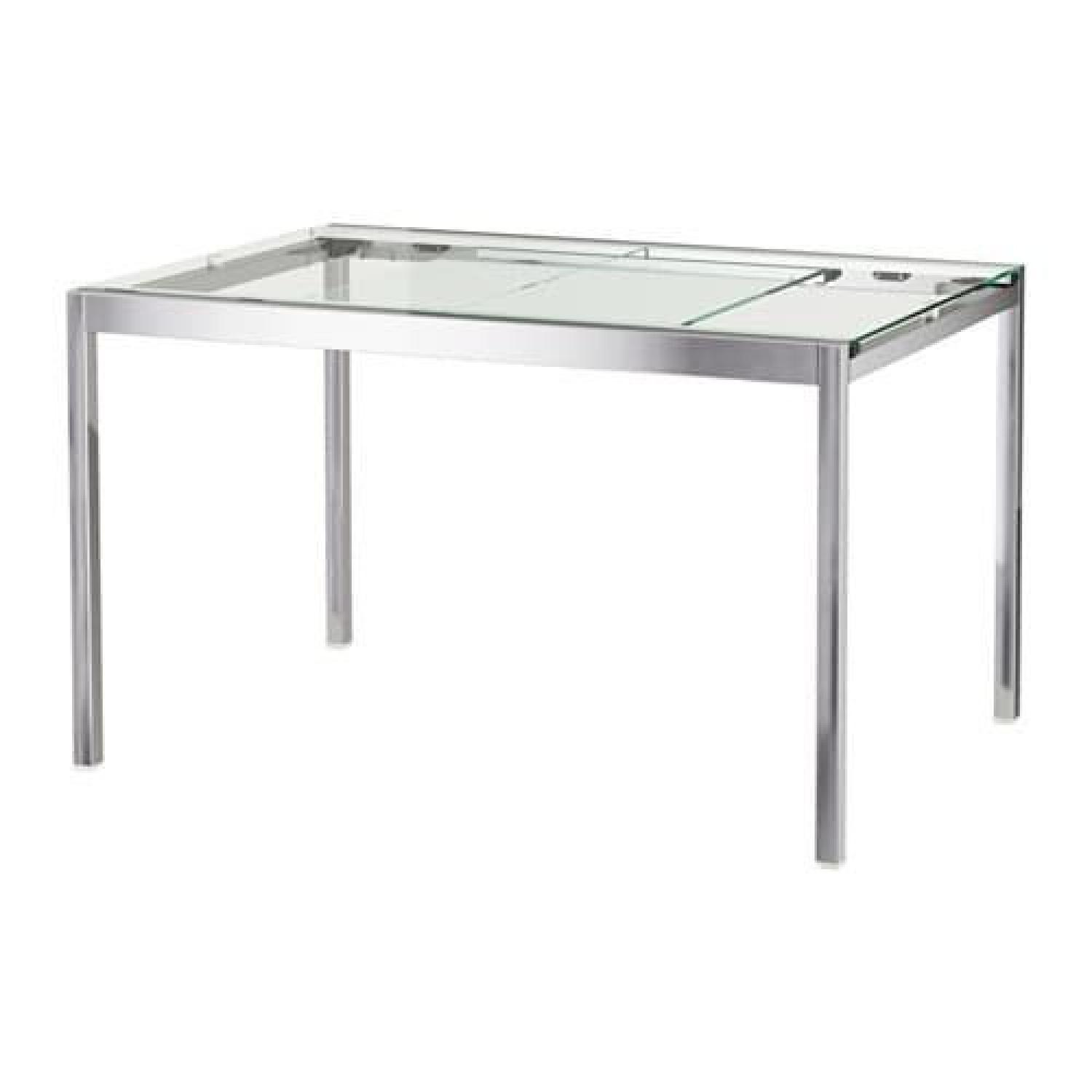 Ikea Glass & Chrome Dining Table