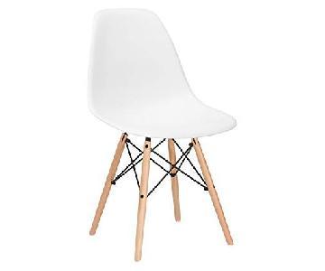 Poly & Bark Vortex Side Chair in White